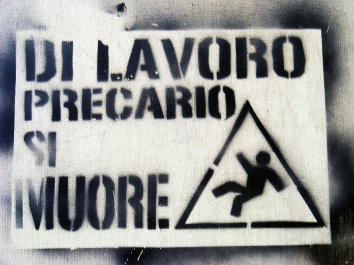 Di lavoro precario si muore